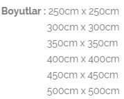 teleskopik aluminyum kare semsiye boyutlar